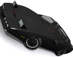 realtime 3d model knight industries two thousand kitt