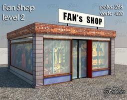 low-poly 3d model fan shop level 2