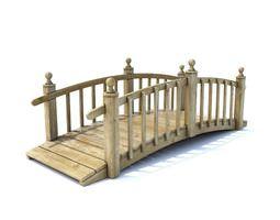 water Wooden Bridge 3D model