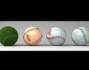 Baseball and Tennis 3D model