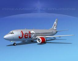 boeing 737-300 jet2 rigged 3d model
