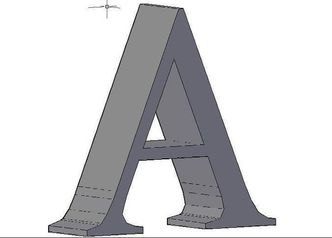 alphabet  3d model dwg 1