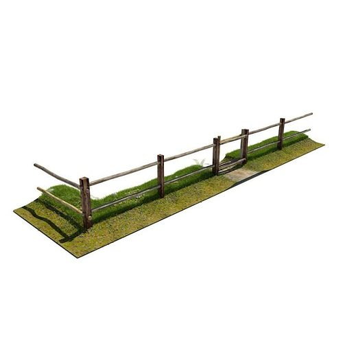 3d fence wooden rural cgtrader for 3d fence