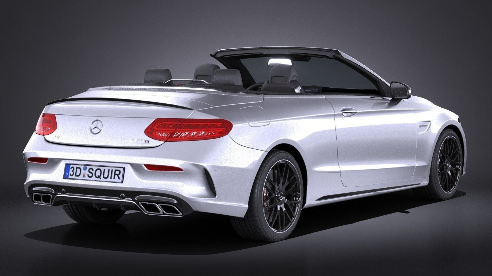 mercedes c63 amg cabrio 2017 3d model max obj 3ds fbx. Black Bedroom Furniture Sets. Home Design Ideas