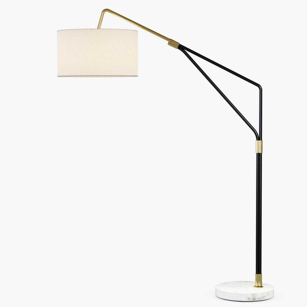 Mid Century Overarching Floor Lamp 3d Model Max Obj Fbx Mtl 1 ...