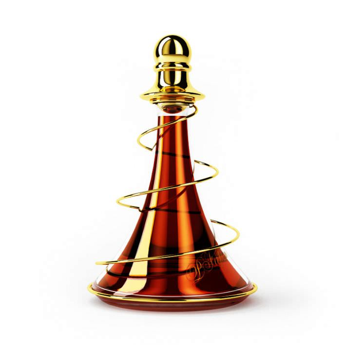 Very Modern Orange Perfume Bottle 3D Model - CGTrader.com