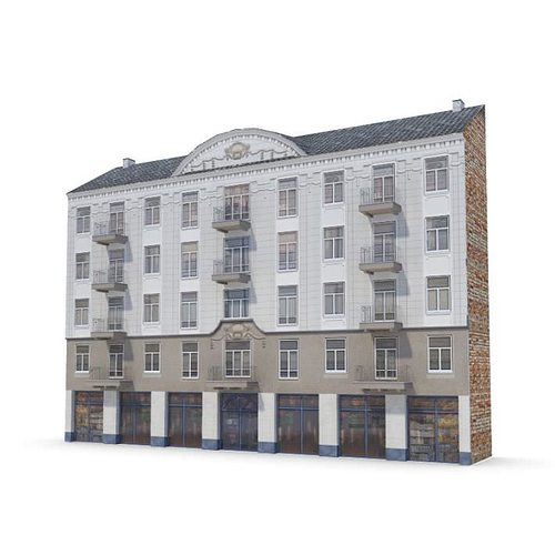 3d building in classic style cgtrader for Construction 3d