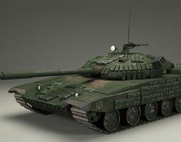 T-72 Russian  tank 3D Model
