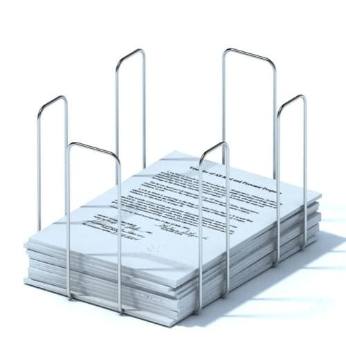 Metal Desk Paper Organizer 3D Model CGTrader
