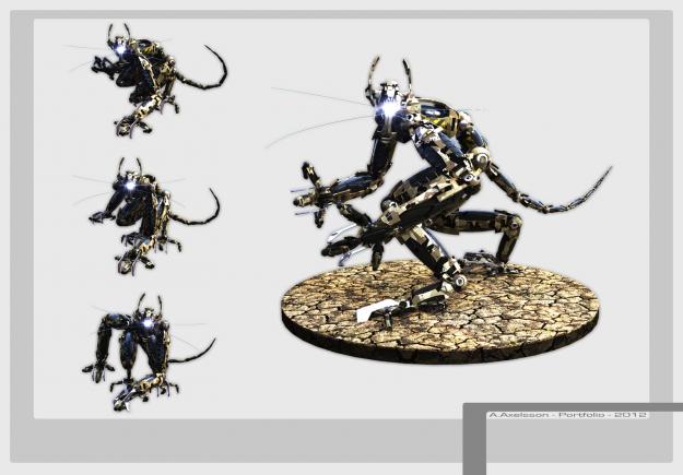 Sci fi Robot rigged3D model