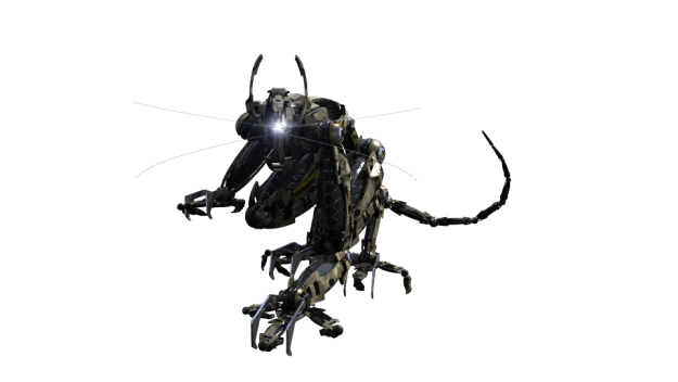 Sci fi robot rigged 3d model
