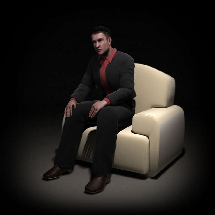 Professional Male 3D Model by