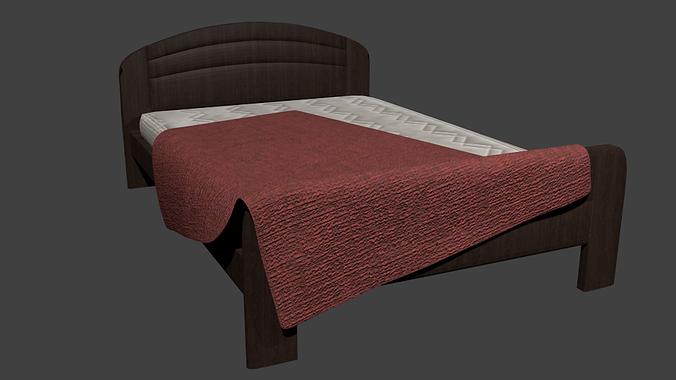 bed 3d model fbx 1