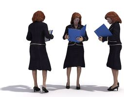 Professional Business Woman In Skirt 3D