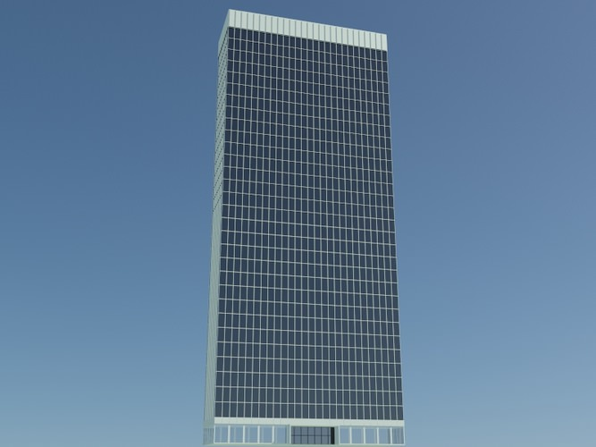 101 m Skyscraper3D model