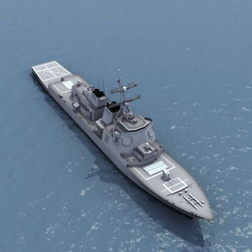 Arleigh Burke Destroyer3D model