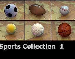 Sports Ball Collection 3D model