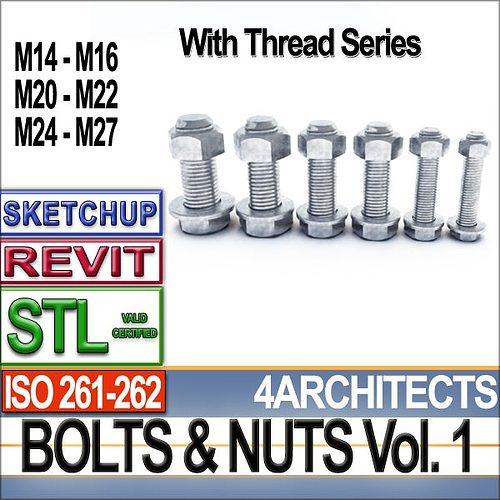 bolts nuts vol 1 iso 261 262 stl printable vol 1 iso 261 262 3d model obj mtl 3ds c4d dxf stl vue 1