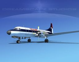 Convair CV-580 Texair 3D model