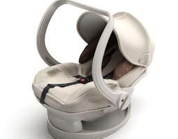 3d model white baby carrier