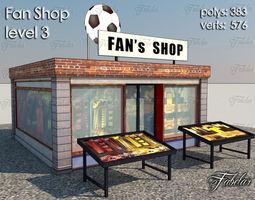 3d model Fan Shop