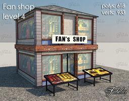 3D model game-ready Fan Shop