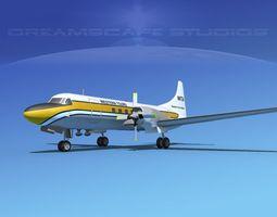 Convair CV-580 Western Tours 3D model