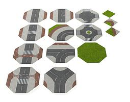 3d road puzzle mat