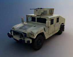 3D model White Military Truck