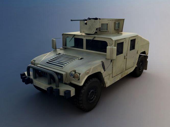 White Military Truck3D model