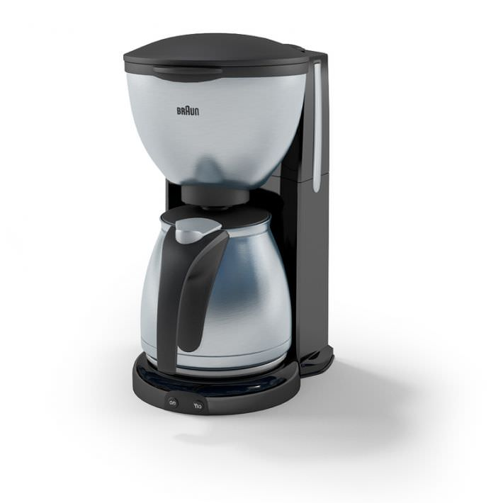 Coffee Maker Braun : Coffee Maker: Braun 3D Model- CGTrader.com