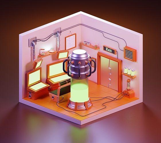 scientific space room PBR