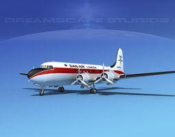3D Douglas DC-4 Dan-Air London