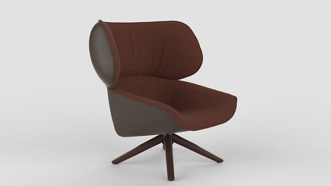 B B Italia Tabano Chair Maroon