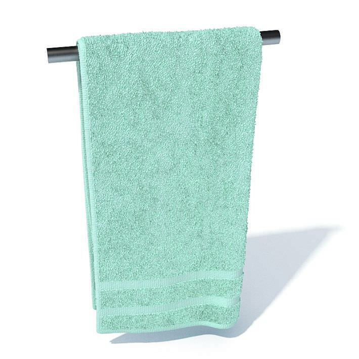 Bathroom hand towel 3d model for Bathroom hand towels
