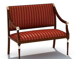 3D Classic Striped Couch