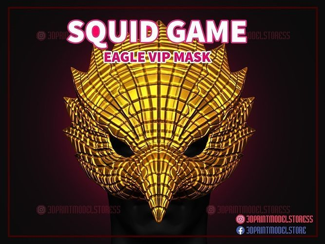 Squid Game Eagle Vip Mask for Cosplay