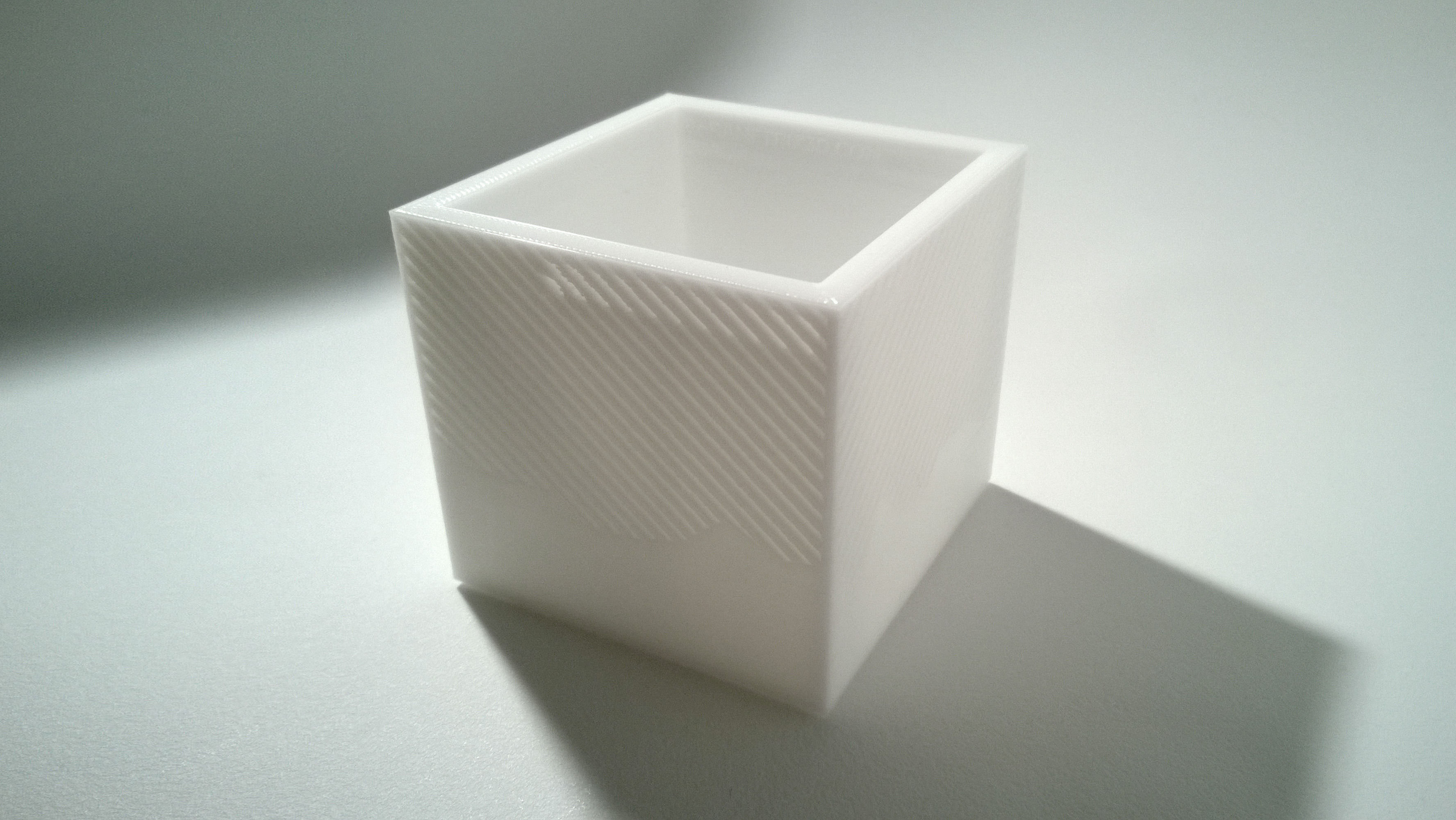 003g - Planter - Small Cuboid With Pattern -