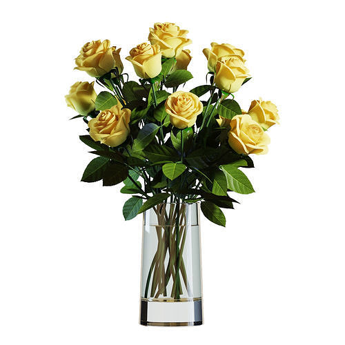 Flower Set 05 - Yellow Roses Bouquet