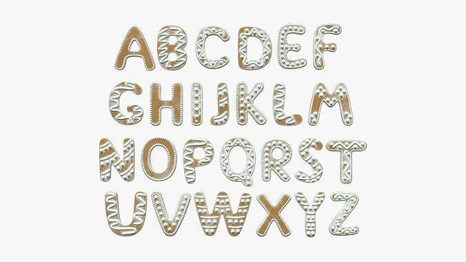 Decorated alphabet letters 03