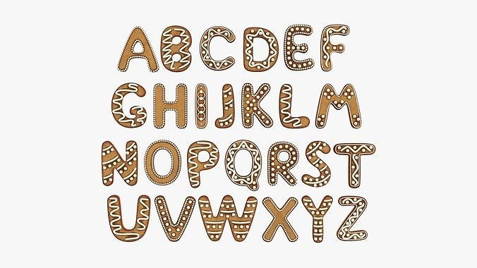 Decorated alphabet letters 04
