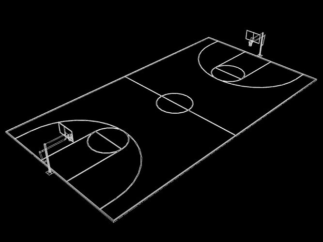 Image result for 3d basketball court