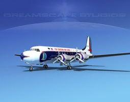 3D model Douglas DC-4 Eastern Airlines 2