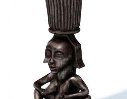 3D model African Figurine Flower Pot