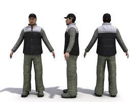3D Characters Three Men