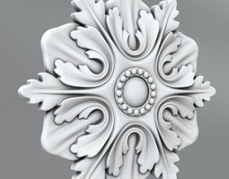 Carved Rosettes Medallions ornament 3D model