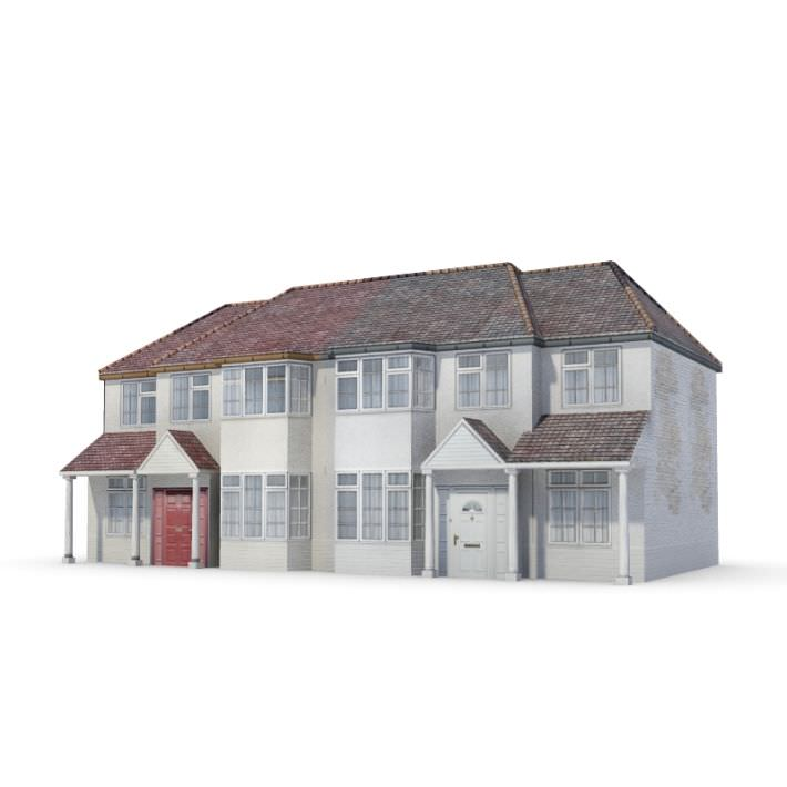 Two story house 3d model for Two story model homes
