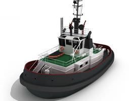 Small Tug Boat 3D model