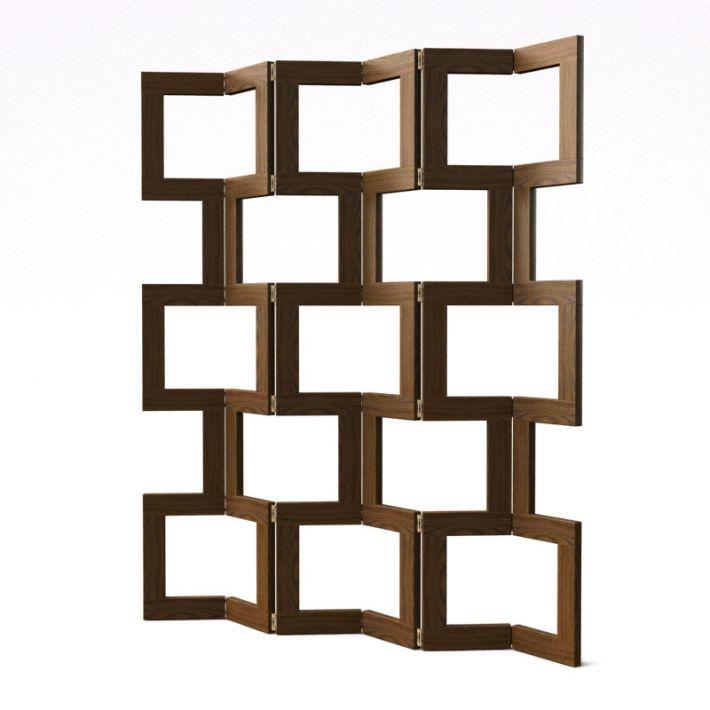 Modern Wood Room Divider 3D Model CGTradercom