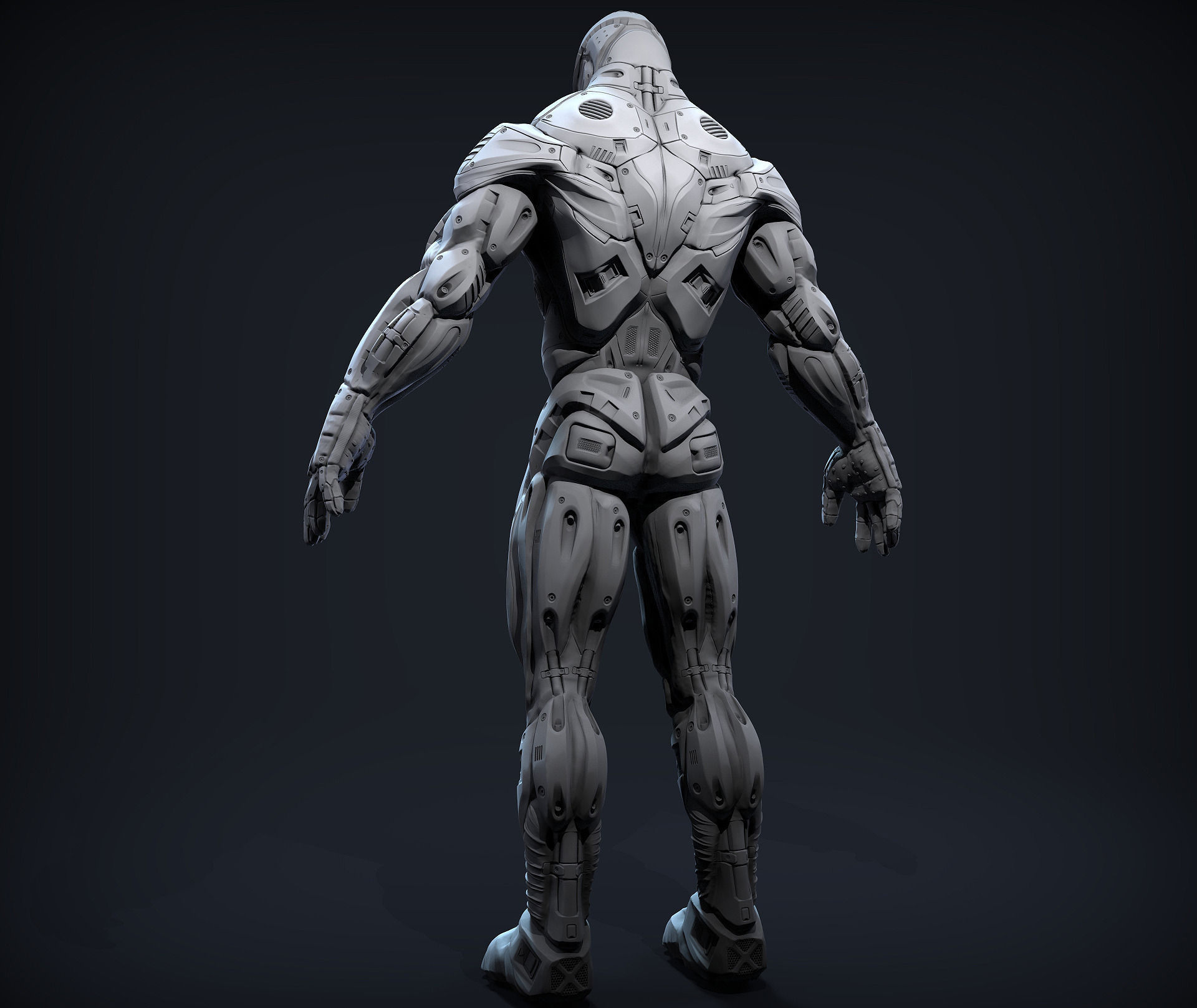 Mech Soldier 3D Model .obj - CGTrader.com | Armor concept